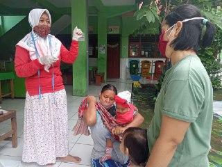 Posyandu Seluruh Pangongangan Laksanakan Bulan Timbang Door TO Door